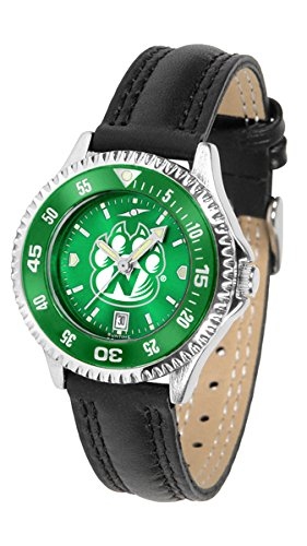 Northwest Missouri State Bearcats Competitor Ladies AnoChrome Watch with Leather Band and Colored Bezel