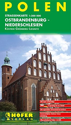 Polen - PL 002: Ostbrandenburg - Niederschlesien - Küstrin /Grünberg /Liegnitz Landkarte – Folded Map, 26. Juli 2017 Lars Höfer Höfer Verlag 3931103854 Karten / Stadtpläne / Europa
