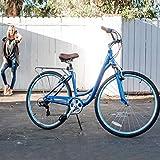 "sixthreezero Body Ease Women's 7-Speed Comfort Bike with Rear Rack, 26"" Wheels/ 17"" Frame, Cream, 17""/One Size"