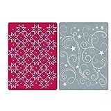 Sizzix Textured Impressions Embossing Folders 2PK - Flowers, Stars & Swirls Set by Rachael Bright