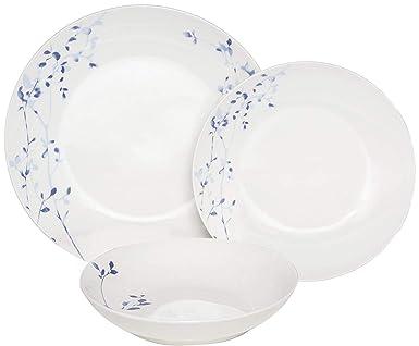 Melange Coupe 36 Piece Porcelain Dinner Set Indigo Garden Collection Service For 12 Microwave Dishwasher Oven Safe Dinner Plate Salad Plate Soup Bowl Mug 12 Each Industrial Scientific