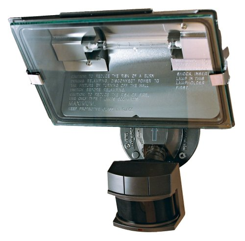 Heath Zenith SL-5311-BZ Bronze Professional Dual Brite Motion Sensor Quartz Security Light, Black