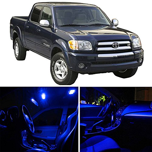 cciyu 13Pack LED Bulb Replacement fit for 2007-2017 Toyota Tundra LED Interior Lights Accessories Replacement Package Kit, BLUE