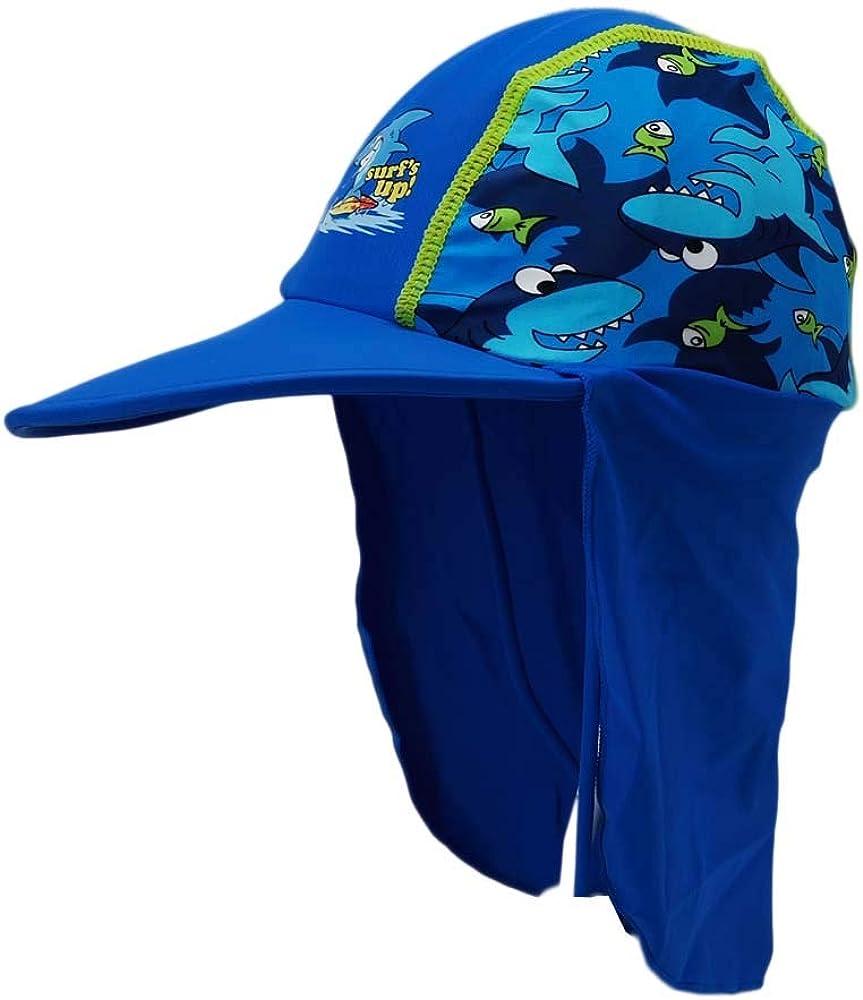 Gifts Treat Cappello estivo per bambini Legionario Cap Cappuccio con cordoncino per 3-15 anni ragazze e ragazzi Protezione solare UPF 50
