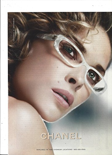 PRINT AD For 2005 Chanel White Frame - Chanel Eyewear