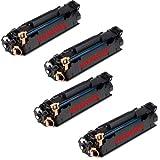 4 Pack Ink4work C3500B001AA (128) Black Compatible Toner Cartridge Fits Canon ImageClass D550, MF4412, MF4420n, MF4450, MF4550, MF4550d, MF4570dn, MF4580dn-, Office Central