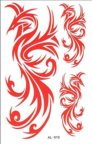 1pc Phoenix Order Animal Series Waterproof Body Art Tattoo Pattern Temporary Tattoos Sticker(18.5cm8.5cm)