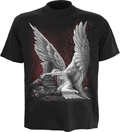 Herren T-Shirt SPIRAL - TEARS OF AN ANGEL - BLK - DT232600