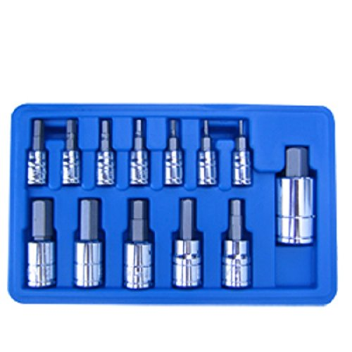 Professional 13 pc METRIC MM HEX ALLEN WRENCH BIT SOCKET TOOL SET from J&R Quality Tools (Set Professional Hex Wrench)
