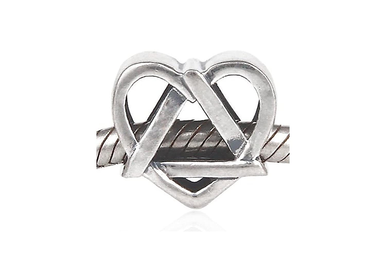 Adoption symbol sterling silver charm bead fits pandora adoption symbol sterling silver charm bead fits pandora chamilia etc style bracelets spanglebead amazon jewellery buycottarizona Image collections
