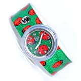 Watchitude Slap Watch - Ladybugs - Kids Watch for Boys & Girls
