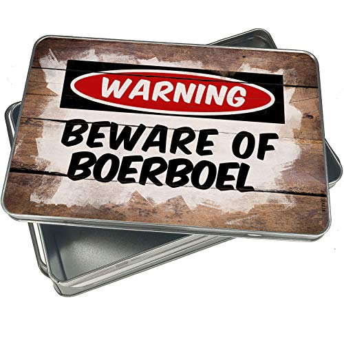 NEONBLOND Cookie Box Beware of the Boerboel Dog from South Africa Christmas Metal Container