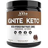 IGNITE KETO Exogenous Ketones Supplement - 12g BHB Coffee & Chocolate Ketone Salts - Fuel Ketosis, Energy, Fat Burn & Focus - Best Beta Hydroxybutyrate Ketone Drink Powder - Perfect for Low Carb Diet