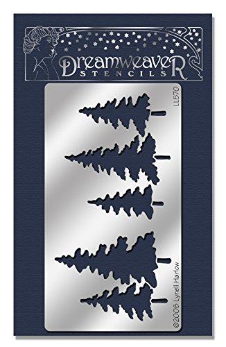 Embossing Metal Stencil (Stampendous Dreamweaver Metal Stencil, Pine Trees)