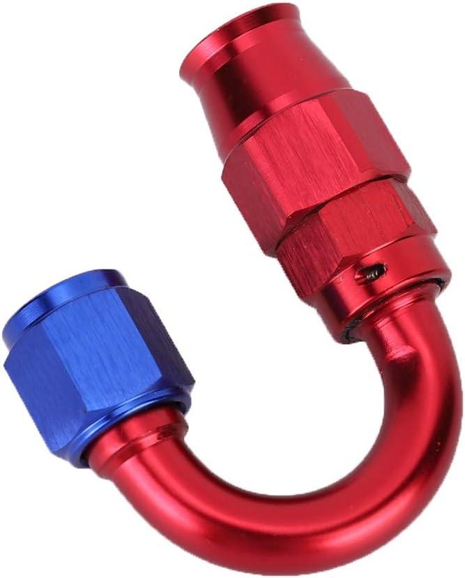 AN6 Embout de durite Adaptateur de carburant dhuile de refroidissement en alliage daluminium pour t/éflon EBTOOLS 0 /° 45 /° 90 /° 180 /° Raccord dessence 0/°