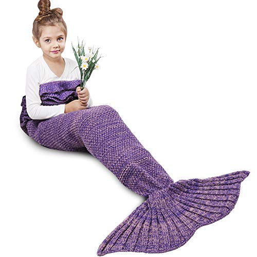 Find Cheap AmyHomie Mermaid Tail Blanket, Crochet Knitting Mermaid Blanket, Mermaid Tail Blanket for...