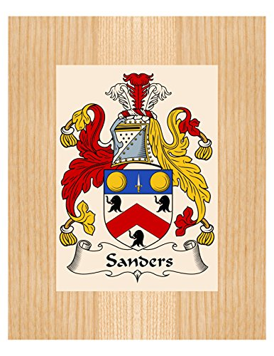 Sanders Coat of Arms / Sanders Family Crest 8X10 Photo Plaque, Personalized Gift, Wedding Gift