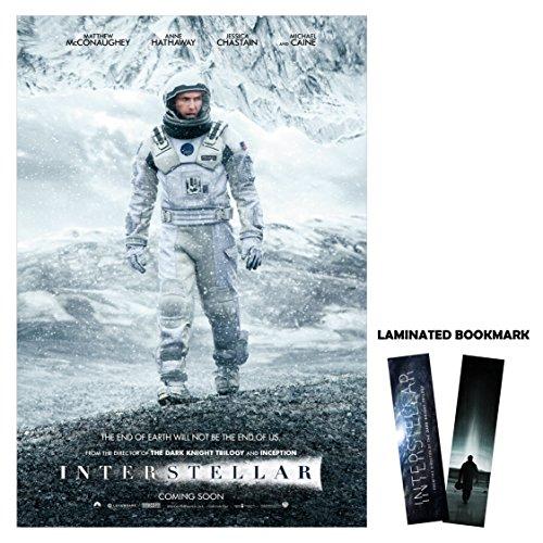 interstellar-2013-13-x-19-movie-manns-plannet-snow-matthew-mcconaughey-laminated-bookmark