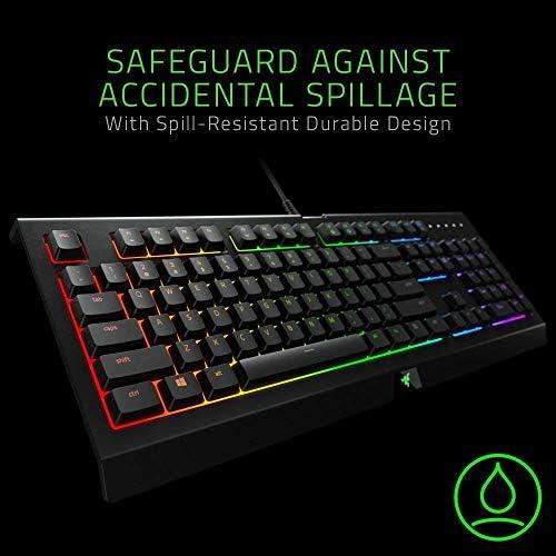 Razer Cynosa Chroma Gaming Keyboard: 168 Individually Backlit RGB Keys – Spill-Resistant Design – Programmable Macro Functionality – Quiet & Cushioned 51vr3i2tVBL