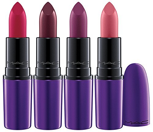 MAC Magic of the Night Lipsticks Set of 4: Please Me, All Fired Up, Evening Rendezvous, Dark Side by M.A.C