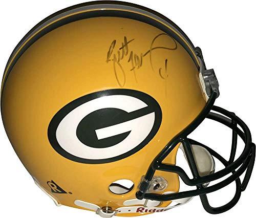 Favre Brett Helmet (Brett Favre Signed Autographed Packers PROLINE Full Size Helmet Beckett BAS)