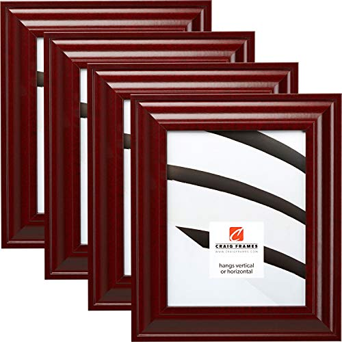 Craig Frames 76039 8 x 10 Inch Picture Frame, Contemporary Red, Set of 4