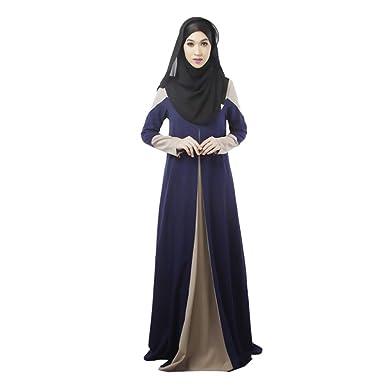 ae654de7773 BOZEVON Robe de cérémonie Musulmane - Robe de prière pour la cérémonie de  vénération(Hijab Non Inclus)  Amazon.fr  Vêtements et accessoires