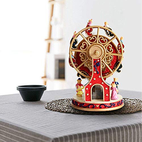 ASNOMY Personalized Rotating Ferris Wheel Music Box for Girls or Boys' Birthday, Music Box Melody Canon(Canon) by ASNOMY (Image #1)