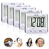 Soraco Digital Kitchen Cooking Timer with Large Display Screen, Loud Sounding Alarm, Strong Magnetic Backing, Retractable Stand (6PACK)