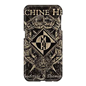 Bumper Hard Phone Covers For Samsung Galaxy S6 With Customized Fashion Machine Head Band Pictures ColtonMorrill