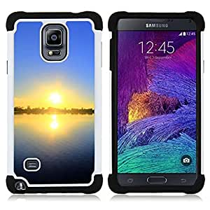- Sunset Beautiful Nature 55/ H??brido 3in1 Deluxe Impreso duro Soft Alto Impacto caja de la armadura Defender - SHIMIN CAO - For Samsung Galaxy Note 4 SM-N910 N910