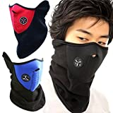 SIHE Windproof dustproof Cold Weather Mouth Masks Half Face Masks for Motorcycles (Blue)