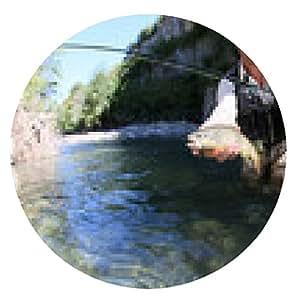 alfombrilla de ratón Pescador de la mosca que coge una trucha fario en el río - ronda - 20cm