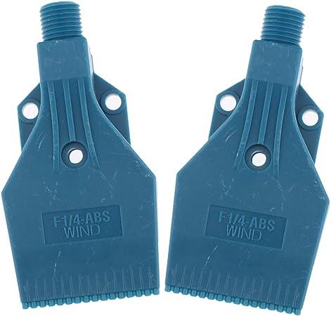 perfk 6 Lot ABS Kunststoff 1//4 Luftmesser Blas Wind Jet Washer