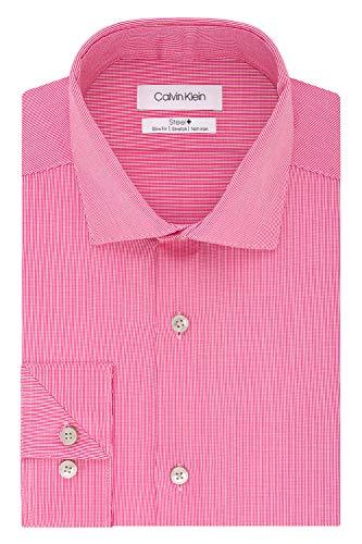 - Calvin Klein Men's Dress Shirt Slim Fit Non Iron Stretch Solid, Pink Sorbet, 15.5