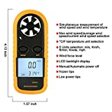 PiscatorZone Pocket Anemometer Handheld Mini Wind