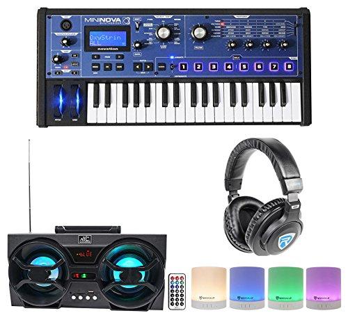 Novation MiniNova 37-Key Compact USB MIDI Keyboard+Headphones+Bluetooth Speakers by Novation