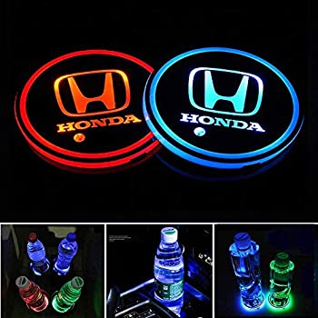 Ford 2pcs Multicolor LED Cup Holder Mat Pad USB Charging Interior Light Decoration Neon Lights Custom Lighting Accessories Mouldings Trim Lamps Vehicle Parts Decor Lamp Atmosphere Fit Ford