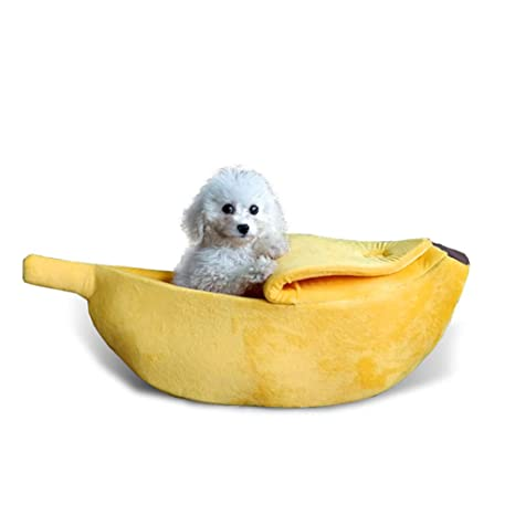 Ndier Lindo del plátano Cama del Gato del Perro de Mascota en Forma de Perro de