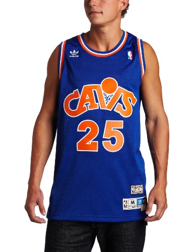 NBA Men's Cleveland Cavaliers Mark Price Retired Player Swingman Jersey (Blue, Medium) ()