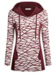 Womens Long Sleeves Hoody Tops Helloacc Long Sleeves Business Casual Wear Wine L