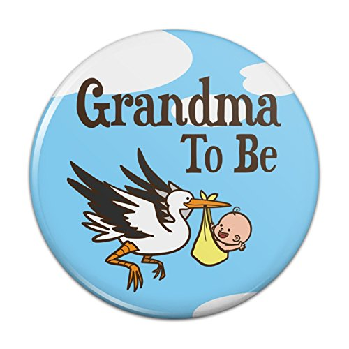 Grandma To Be Stork Baby Grandmother Pinback Button Pin Badge - 3