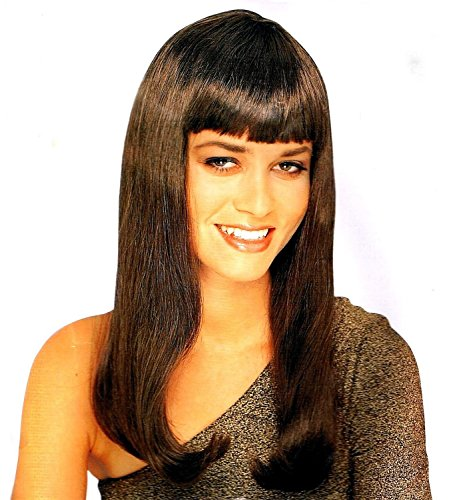 Mistress Wig w/ Bangs (Brown) Adult Halloween Costume Accessory Brown Mistress Wig