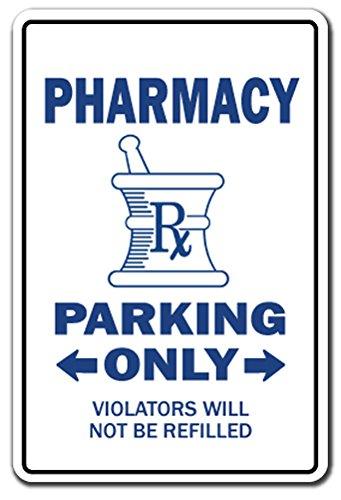 [SignJoker] PHARMACY Parking Sign gag novelty gift funny pharmacist druggist drug store Wall Plaque Decoration