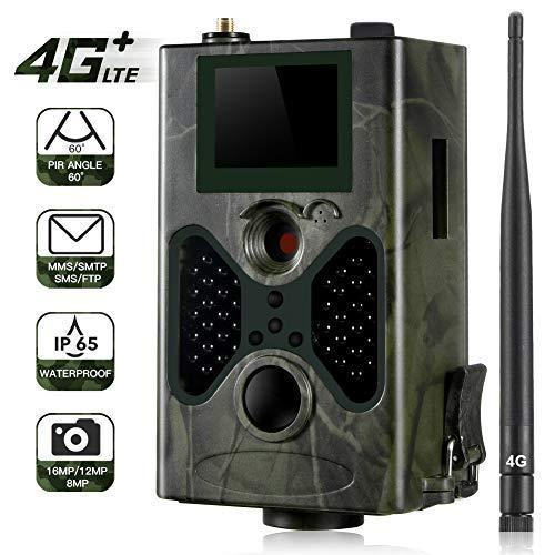 7 opinioni per SUNTEKCAM 4G Fotocamera Caccia Fototrappola 16MP 1080P MMS gsm Telecamera di