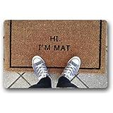 Hi I'm Mat Custom Doormat (23.6x15.7 inch) Indoor Outdoor