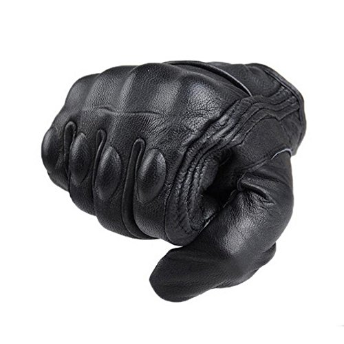 WXLAA Motorcycle Gloves , Cycling Bicycle Riding Racing Bike Protective Armor Short Gloves Leather