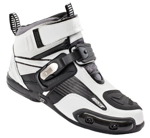 Joe Rocket Atomic Men's Motorcycle Riding Boots/Shoes (White/Black, Size 11) -