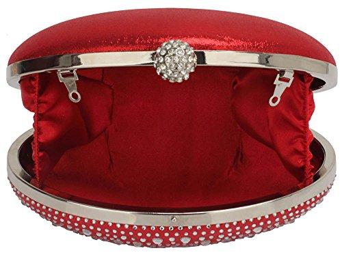 Bag Clutch Design Gorgeous Diamante Red UK FREE DELIVERY Evening qFOwXvf