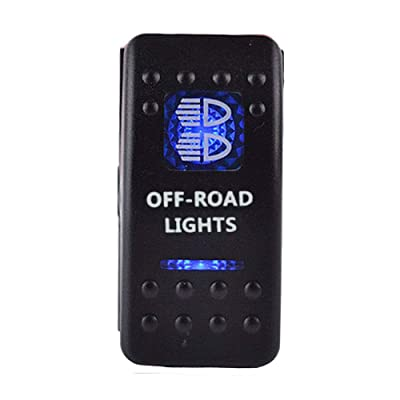 ESUPPORT Car Blue LED Off Road Light Rokcer Toggle Switch ON OFF 12V 20A, 24V 10A: Automotive